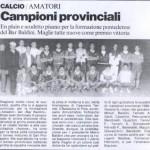 1°CLASSIFICATA CAMPIONATO 87/88